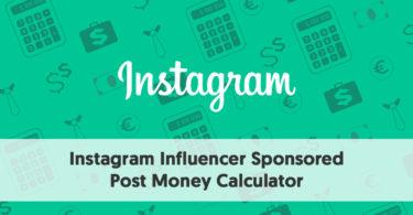 Instagram Sponsored Post Calculator